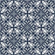 Ornamental floral decorative pattern background Stock Illustration