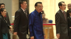Li Keqiang, Premier of the People's Republic of China Stock Footage