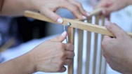 Couple assembling furniture. Stock Footage