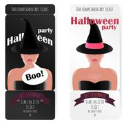 Stylish ticket to the party of Halloween Stock Illustration