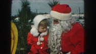 1958: beautiful christmas papa and kid engaged in chat on roadside AMES, IOWA Stock Footage