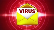 VIRUS Text and Mail, Concepts, Loop, 4k Stock Footage
