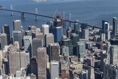 San Francisco Bay and Downtown City Aerial Kuvituskuvat