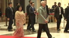 Najib Razak, PM of Malaysia Stock Footage