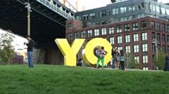 Public Art Work in Brooklyn New York  Stock Footage