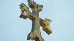 Apostolic Armenian church cross sky Stock Footage