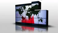 Business Background, Earth and Graphs, Loop, 4k Stock Footage