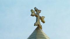 Armenian church cross sky Stock Footage