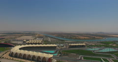 Abu Dhabi Ferrari world Yas Marina reveal stock footage Stock Footage