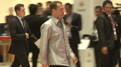 Dmitry Medvedev Russian PM Stock Footage