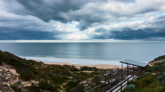 Time Lapse - Clouds movement at Dalyellup Beach near Bunbury, Australia. Stock Footage