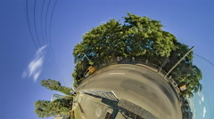 Little Tiny Planet 360 Degree. Blvd. Shevchenko Stock Footage