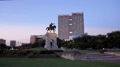 Sam Houston Monument in Houston Stock Footage