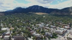 Boulder and the Flat Irons Stock Footage