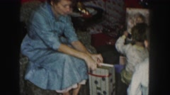 1958: opening gifts AMES, IOWA Stock Footage
