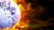 Fiery Disco Ball Background, Loop, 4k Stock Footage