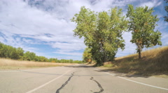 POV point of view- Driving through Cherry Creek State Park in Autumn. Stock Footage