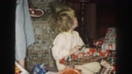 1958: opening a gift AMES, IOWA Stock Footage