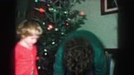 1958: christmas decorating AMES, IOWA Stock Footage
