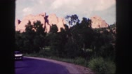 1958: a mountain area is seen traveling by road COLORADO Stock Footage