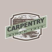 Vintage carpentry icon, vector illustration Stock Illustration