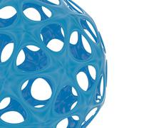 Abstract blue sphere on white Stock Illustration