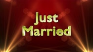 Just Married Text Animation, 4k Stock Footage