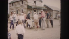 1958: a bull man is seen on a wild bull COLORADO Stock Footage