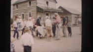 1958: a bull man is seen on a wild bull COLORADO Stock Footage