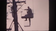 1958: a person is seen swinging on his hands in a net area COLORADO Stock Footage