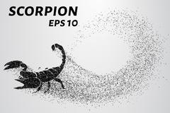 Scorpion of the particles. Scorpion consists of small circles. Vector Stock Illustration