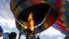 Hot Air Balloons, Propane Burner CU Stock Footage