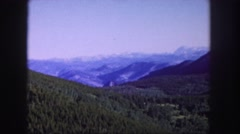1958: the mountain always high, scary sometimes, having fresh air, too much wild Stock Footage