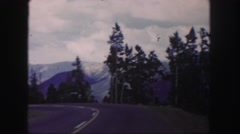 1958: mountain driving trip on curvy roads to top of pike's peak. COLORADO Stock Footage