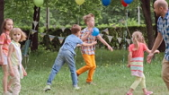 Game with Ball for Kids and Adults Stock Footage