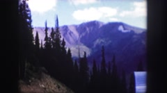 1958: the mountain and the trees are so amazing that colour is so full of spirit Stock Footage