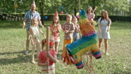 Pinata Party for Kids Stock Footage