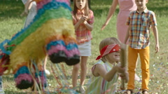 Party Game with Pinata Stock Footage