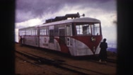 1958: touring railcars on a cloudy day COLORADO Stock Footage