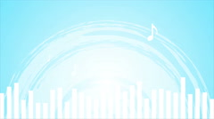 Light blue music abstract video animation Stock Footage