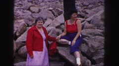 1958: two women visiting pikes peak COLORADO Stock Footage