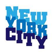 T shirt typography New York Piirros