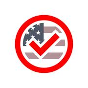 Presidential election USA sign Stock Illustration