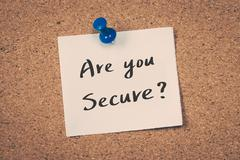 Are you secure? Stock Photos
