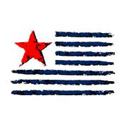 American color flag grunge celebration Independence Day Stock Illustration