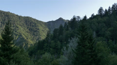 Cinematic Smoky Mountain Tracking Shot Near Gatlinburg Stock Footage