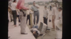 1958: wild west reenactment show kids playing dead COLORADO Stock Footage