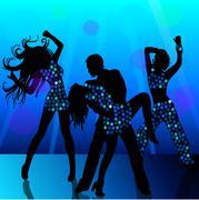 People dancing in nightclub Stock Illustration