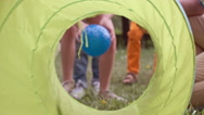 Tunnel Game for Kid Stock Footage