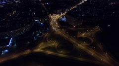 The movement of vehicles at the traffic junction night Stock Footage